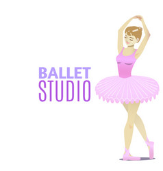 Ballet studio template in cartoon style vector