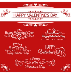Beautiful inscriptions for valentine is day vector