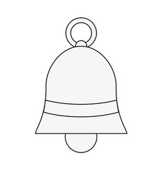 bell with ribbon bow icon image vector image