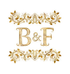 Bf vintage initials logo symbol letters b vector