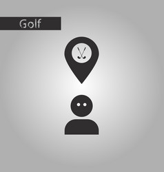 Black and white style icon golfer logo vector