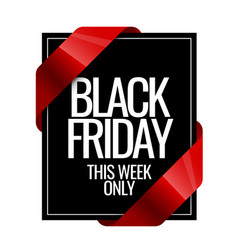 black friday sign design template vector image