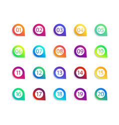 bullet numbers infographic buttons and points vector image