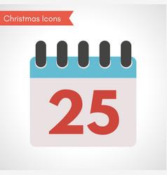 calendar with date twenty five vector image