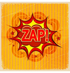 Cartoon blast ZAP vector