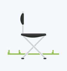 chair for travel or for camping vector image