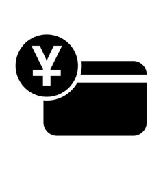 chinese yuan credit card icon vector image