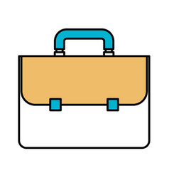 Color sections silhouette of executive briefcase vector