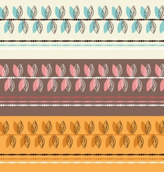 Colorful pattern with leafs vector image
