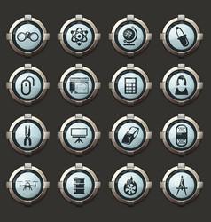 Courses school icons set vector
