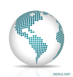 Dotted Globe vector