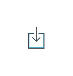 download icon design essential icon vector image