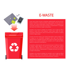 E-waste poster container vector