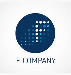 f web digital company logo concept vector image