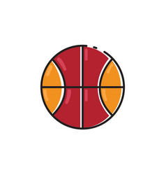 flat color ball icon vector image