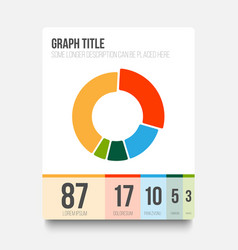 flat user interface ui of pie chart vector image
