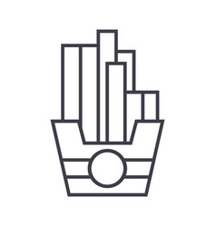 fries line icon sign on vector image