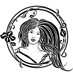 Girl portrait in the Art Nouveau style vector