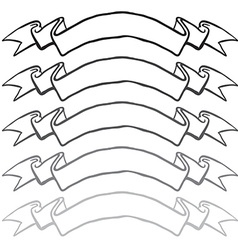 greyscale banners vector image
