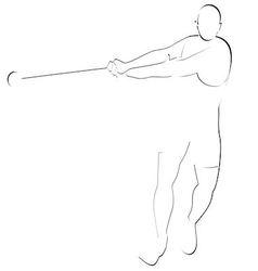Hammer throwing 1 vector image