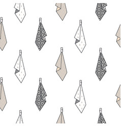 Hanging towels seamless pattern vector
