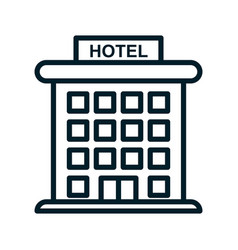 Hotel icon isolated on white background from vector