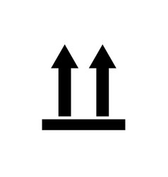 icon of side up sign symbol black on white vector image
