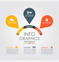 infographic design template with place for your vector image