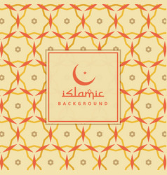 Islamic background with colorful pattern vector