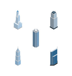 Isometric skyscraper set of skyscraper cityscape vector