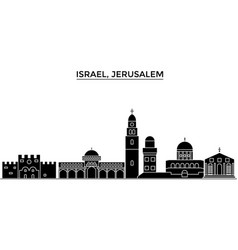 Israel jerusalem architecture city skyline vector