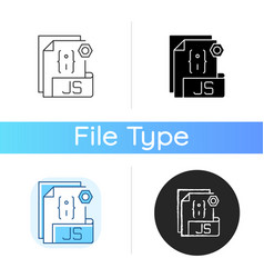 Js file icon vector