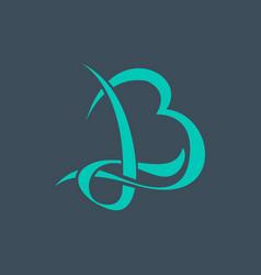 Letter b initial logo design minimalist design vector