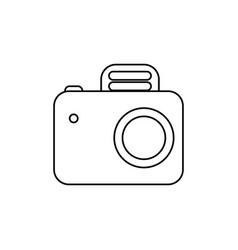 Line camera symbol icon design vector