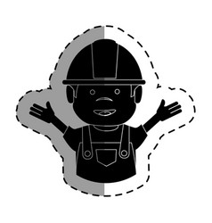 mechanic worker avatar character vector image