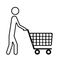 Monochrome silhouette of pictogram man with vector