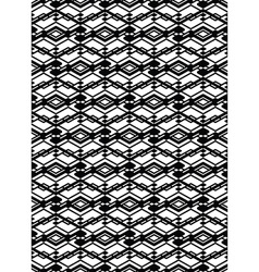 Monochrome symmetric seamless pattern with vector