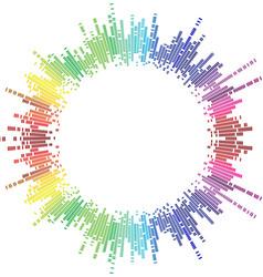 Mosaic rainbow circle vector