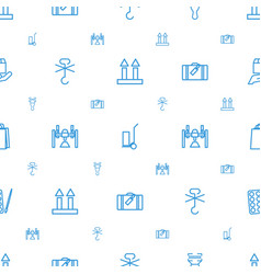 package icons pattern seamless white background vector image