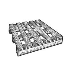 pallet skid sketch vector image