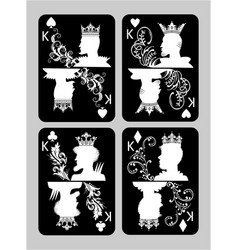 Poker cards king set vector