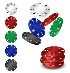Poker chip set vector image