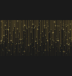 Rain glitter particles with magic light sparks vector
