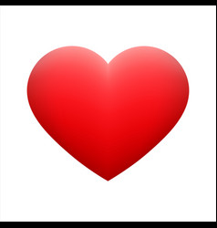 red heart shape emoticon on background vector image