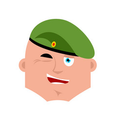 Russian soldier wink emoji airborne troops merry vector