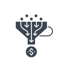 sales funnel glyph icon vector image