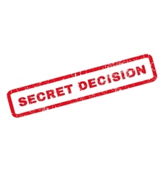 Secret Decision Rubber Stamp vector image