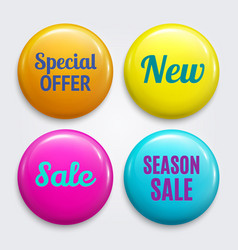 set badges as special offer new sale vector image
