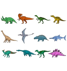 Set of dinosaurs vector
