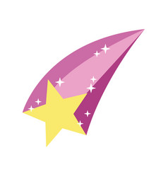 Shooting star hand draw style icon vector